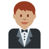 Person in Tuxedo: Medium Skin Tone on Twitter Twemoji 2.2