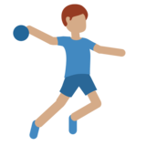 Man Playing Handball: Medium Skin Tone on Twitter Twemoji 2.2