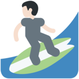 Man Surfing: Light Skin Tone on Twitter Twemoji 2.2