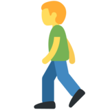 Man Walking on Twitter Twemoji 2.2