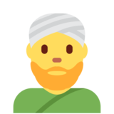Person Wearing Turban on Twitter Twemoji 2.2