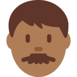 Man: Medium-Dark Skin Tone on Twitter Twemoji 2.2