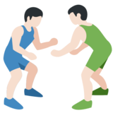 Men Wrestling, Type-1-2 on Twitter Twemoji 2.2