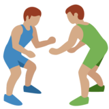 Men Wrestling, Type-4 on Twitter Twemoji 2.2