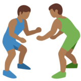 Men Wrestling, Type-5 on Twitter Twemoji 2.2