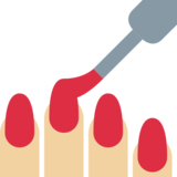 Nail Polish: Medium-Light Skin Tone on Twitter Twemoji 2.2
