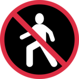 No Pedestrians on Twitter Twemoji 2.2