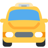 Oncoming Taxi on Twitter Twemoji 2.2