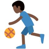 Person Bouncing Ball: Dark Skin Tone on Twitter Twemoji 2.2