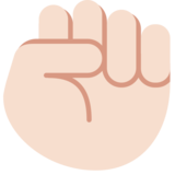 Raised Fist: Light Skin Tone on Twitter Twemoji 2.2