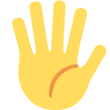 Hand with Fingers Splayed on Twitter Twemoji 2.2