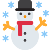 Snowman on Twitter Twemoji 2.2