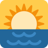 Sunrise on Twitter Twemoji 2.2