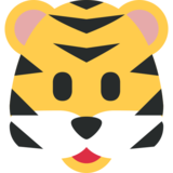 Tiger Face on Twitter Twemoji 2.2