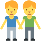 Men Holding Hands on Twitter Twemoji 2.2