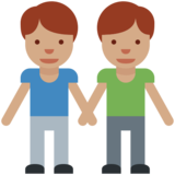 Men Holding Hands: Medium Skin Tone on Twitter Twemoji 2.2