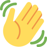 Waving Hand on Twitter Twemoji 2.2