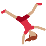 Woman Cartwheeling: Medium Skin Tone on Twitter Twemoji 2.2