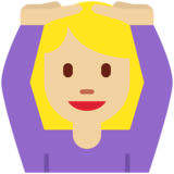 Woman Gesturing OK: Medium-Light Skin Tone on Twitter Twemoji 2.2