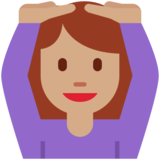 Woman Gesturing OK: Medium Skin Tone on Twitter Twemoji 2.2