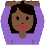 Woman Gesturing OK: Dark Skin Tone on Twitter Twemoji 2.2