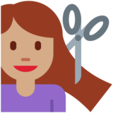 Woman Getting Haircut: Medium Skin Tone on Twitter Twemoji 2.2