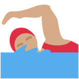 Woman Swimming: Medium Skin Tone on Twitter Twemoji 2.2