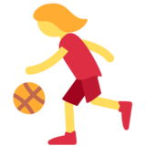 Woman Bouncing Ball on Twitter Twemoji 2.2
