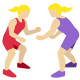 Women Wrestling, Type-3 on Twitter Twemoji 2.2