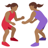 Women Wrestling, Type-5 on Twitter Twemoji 2.2