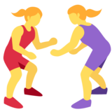 Women Wrestling on Twitter Twemoji 2.2