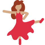 Woman Dancing: Medium Skin Tone on Twitter Twemoji 2.2.1