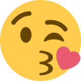 Face Blowing a Kiss on Twitter Twemoji 2.2.1