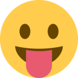Face with Tongue on Twitter Twemoji 2.2.1