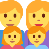 Family: Man, Woman, Girl, Boy on Twitter Twemoji 2.2.1