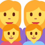 Family: Woman, Woman, Girl, Boy on Twitter Twemoji 2.2.1