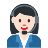 Woman Office Worker: Light Skin Tone on Twitter Twemoji 2.2.1