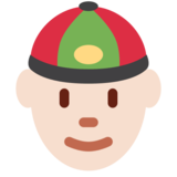 Person With Skullcap: Light Skin Tone on Twitter Twemoji 2.2.1