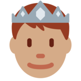 Prince: Medium Skin Tone on Twitter Twemoji 2.2.1