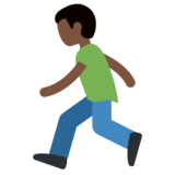 Person Running: Dark Skin Tone on Twitter Twemoji 2.2.1
