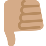 Thumbs Down: Medium Skin Tone on Twitter Twemoji 2.2.1