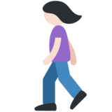 Woman Walking: Light Skin Tone on Twitter Twemoji 2.2.1