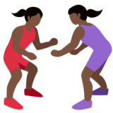 Women Wrestling, Type-6 on Twitter Twemoji 2.2.1