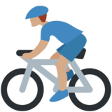 Person Biking: Medium Skin Tone on Twitter Twemoji 2.2.3