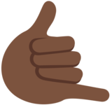 Call Me Hand: Dark Skin Tone on Twitter Twemoji 2.2.3