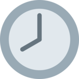 Eight O'Clock on Twitter Twemoji 2.2.3