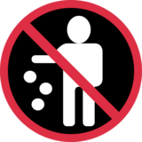 No Littering on Twitter Twemoji 2.2.3