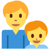 Family: Man, Boy on Twitter Twemoji 2.2.3