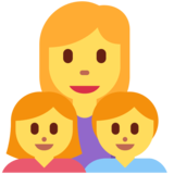Family: Woman, Girl, Boy on Twitter Twemoji 2.2.3