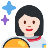 Woman Astronaut: Light Skin Tone on Twitter Twemoji 2.2.3